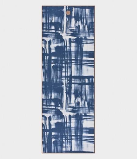 Manduka yogitoes jogos rankšluostis blue brush stroke