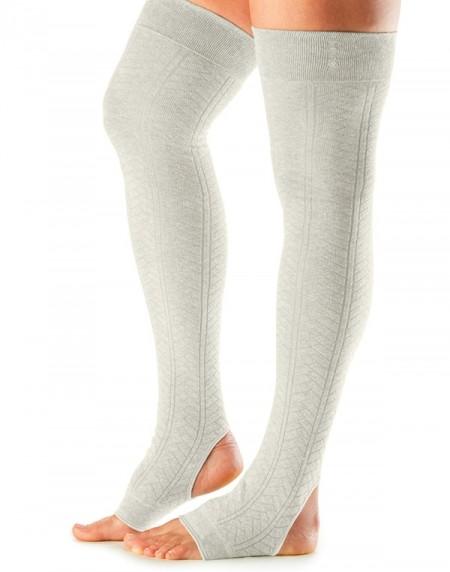 Leg Warmers Open Heel Oatmeal