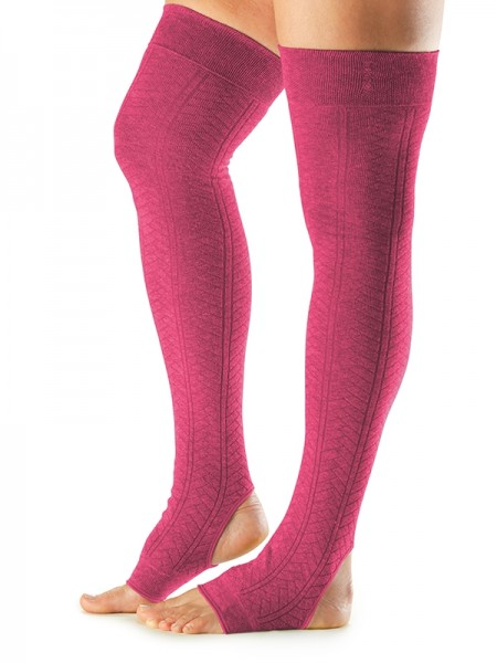 Leg Warmers Open Heel Raspberry