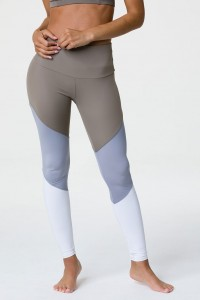 High Rise Track Legging - Dust Fossil Combo