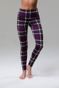 High Rise Legging - Plaid