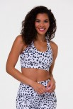 Onzie warrior sport bra white cheetah