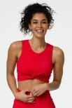 Onzie sportinė laisvalaikio liemenėlė raudona tekstūra